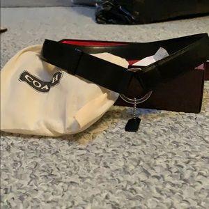 Coach leather belt!